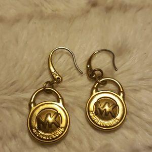 Mk pad lock earrings